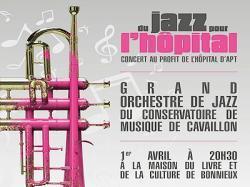 Du Jazz pour l'hôpital, à Bonnieux le 1er avril