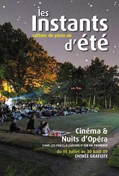INSTANTS D'ETE à Aix-en-Provence du 5/07 au 30/08