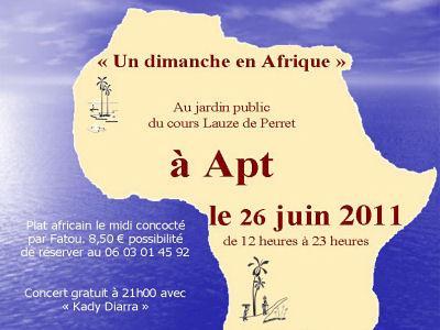 Un dimanche en Afrique, à Apt, le 26 juin