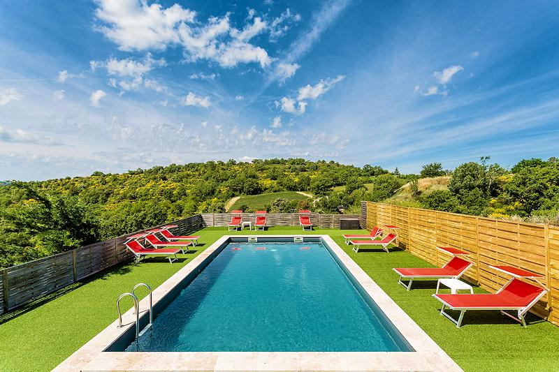 Location vacances piscine - Reillanne - Villa location Saranda - Lubéron Provence